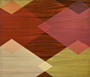 African Mahogany and Diamonds, 2012, pigmented oil varnish on mahogany panel, 36 x 42 in