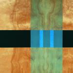 Key, 2005, oil enamel, varnish and sand on birch panel, 24 x 36 in.