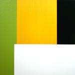 Aqua Shift, 1999, oil, enamel, and sand on mahogany panel, 22 x 28 in