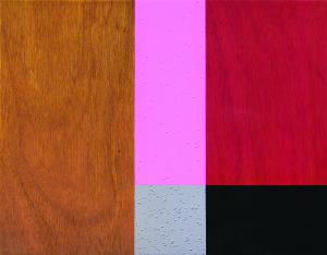 Lovely Paunch, 2005, oil enamel and varnish on mahogany panel, 22 x 28 in