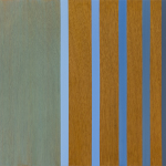 Bend, 2005, oil enamel and varnish on mahogany panel, 22 x 28 in