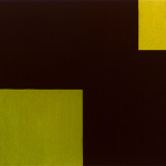 Light from Above, LIght from Below II, 1997, oil, wax, and sand on canvas, 30 x 40 in
