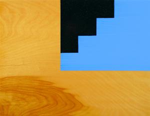 Tail, 2005, oil enamel on birch panel, 16 x 20 in