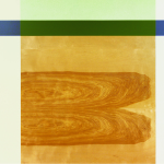 Kernel, 2006, oil enamel, varnish, and sand on birch panel, 48 x 60 in