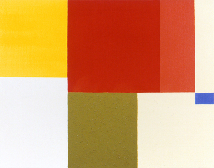 Lothar's Painting, 1998, enamel, oil, and sand on canvas, 22 x 28 in