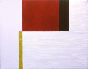 Untitled, 1998, oil, enamel, and sand on canvas, 11 x 14 in