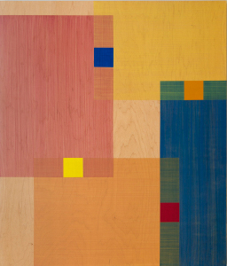 Ripple, 2011, water-based pigmented polyurethane on birch panel, 42 x 36 in