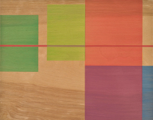 August Drift, 2009, pigmented oil varnish on birch panel, 11 x 14 in