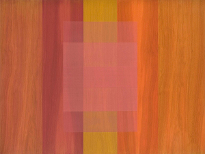 Heart, 2010, pigmented oil varnish on mahogany panel, 36 x 48 in