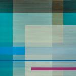 Rain Dance, 2014, pigmented oil polyurethane on birch panel, 36 x 42 in