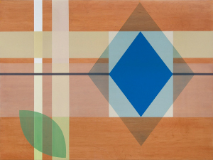 French Kiss, 2014, pigmented oil polyurethane on birch panel, 36 x 48 in
