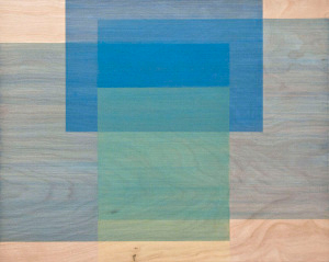 Pond, 2011, pigmented water-based polyurethane on birch panel,16 x 20 in