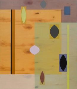 Demographic, 2015, oil polyurethane on birch panel, 36 x 42 inches